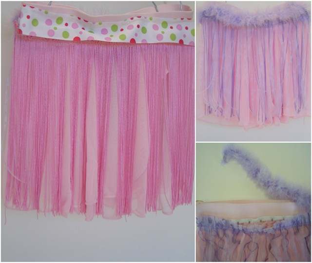 Fringe Dance skirt, ballet skirt with removable fringe