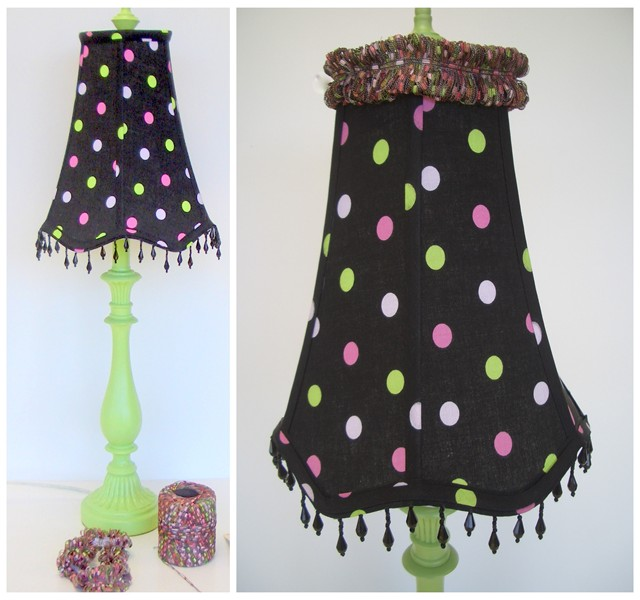 Lampshade with Fringed Topper