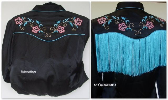 Western Fringe Shirt for Square Dancing or Show Ring - with stunning fringe!