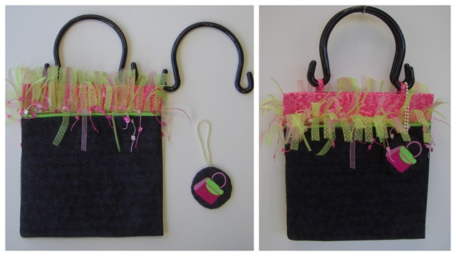 Fringe Purse with removable handles, matching key fob - Sweet
