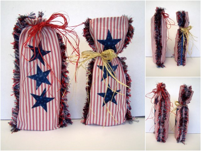 Fringe Gift Bag, Patriotic theme, Country Idea thanks Kathi