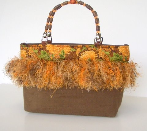 Sporty fall purse all fringed out! by Super Kathi