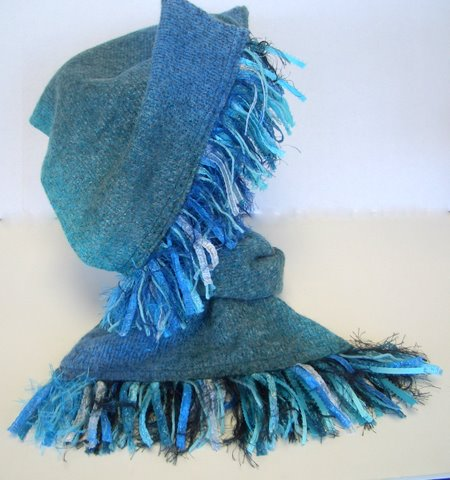 Sew the scarf, make the fringe - EASY