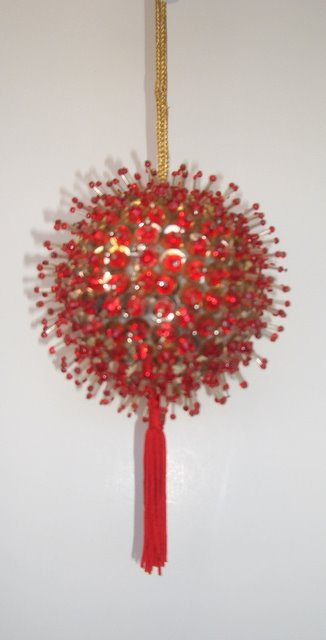 Updated tassel for classic beaded ornament