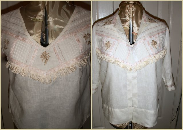 Fringe Heirloom Over Blouse with Top, by SueAnn Obremski