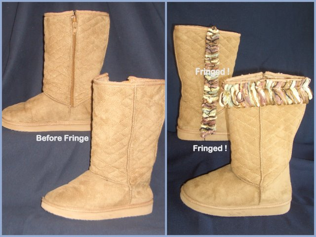 Fringe Boots - before and after