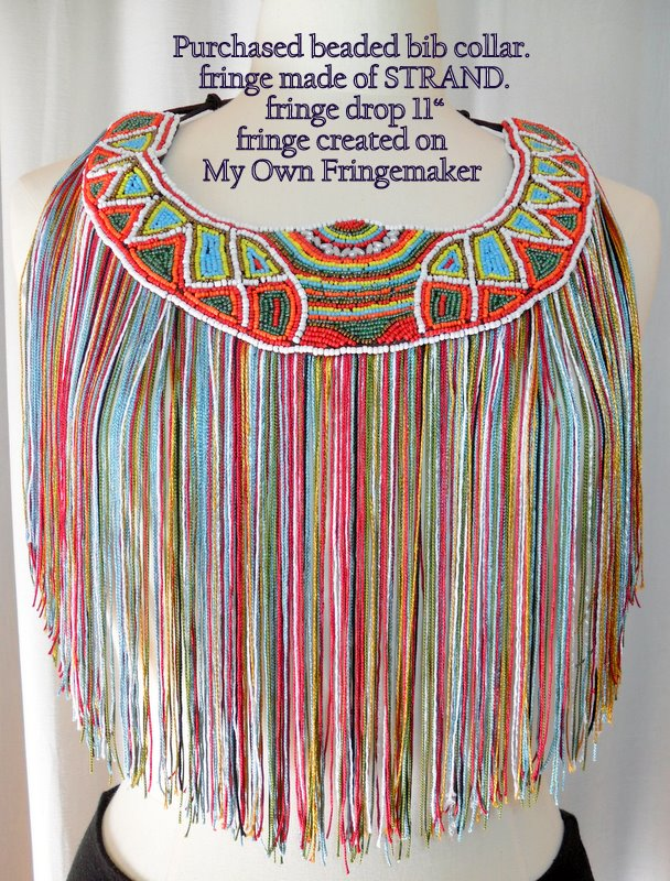 Beaded Fringe Necklace, You can make this!