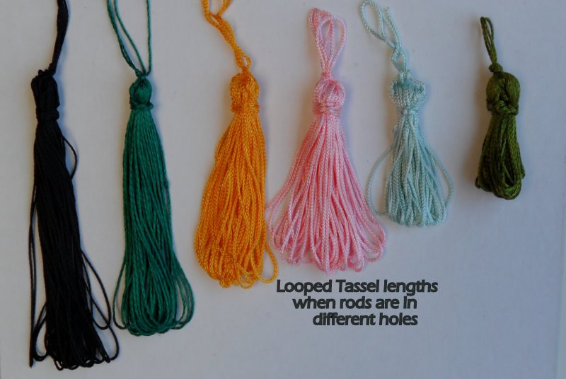 Multiple length looped tassels, very easy to make with My Own Fringemaker