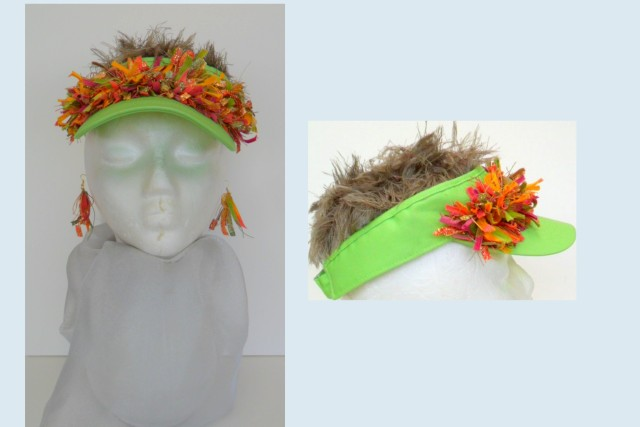sun visor and earings set easy to create