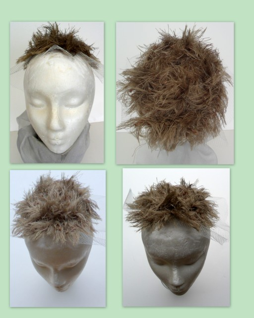 Create realisic costume toupees from yarn