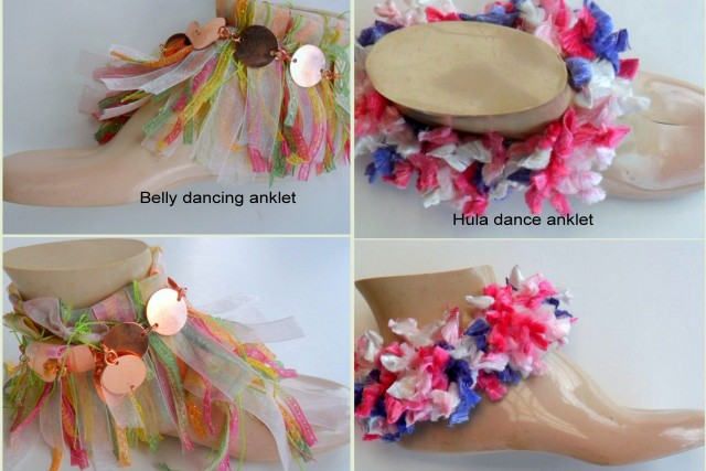Make your own belly dance anklet or hula dance anklet