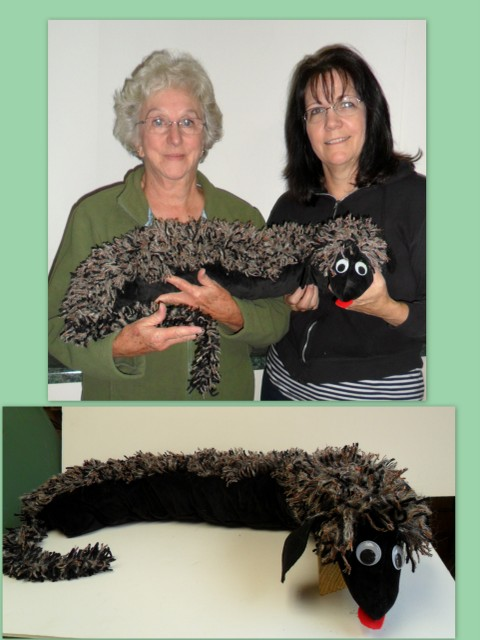 stuffed animal DIY fringe for hair or use as door draft  dodger