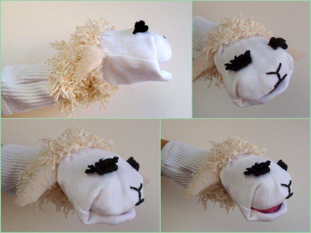 lambchop,  hand puppet you can make
